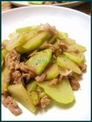 1025-11-300x227 はやとうり(隼人瓜)レシピ 人気漬物 味噌漬けから紹介します。