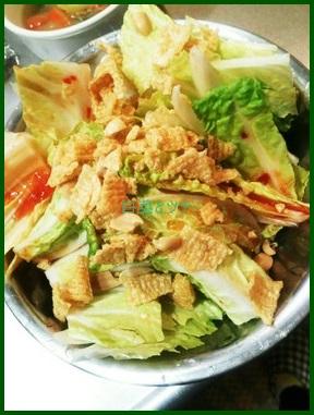 117-1 白菜のレシピ 人気サラダ作り