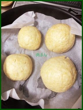 16-1 肉まんレシピ 人気簡単HBで作ってフライパンで蒸す