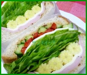 sann1 サンドイッチでオシャレお弁当の作り方 (カフェ風)