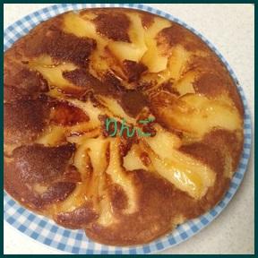 rin1 リンゴとホットケーキミックスで簡単フライパン調理お菓子レシピ