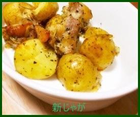 sin1-1 新じゃがのレシピ 人気の鶏肉と一緒に煮物料理