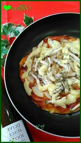 piza1 ピザレシピ 強力粉で作りフライパンで簡単に!