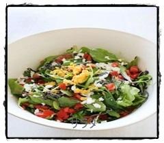 sara1 サラダレシピ 簡単おしゃれな盛り付けは水菜やレタスがお勧め!