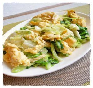 kya1-1-300x285 キャベツと卵の炒め物・スープ・サラダ・お好み焼きレシピ