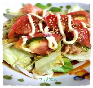 sara1-300x285 サラダうどんレシピ 人気の手作りつゆで食べよう!