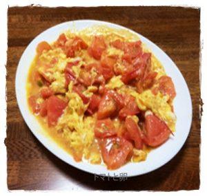 toma1-300x285 卵とトマトの炒め物 中華味で簡単スープにもなります。