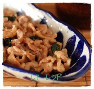 siso1-300x285 しそと味噌の人気レシピ 豚肉と良く合います